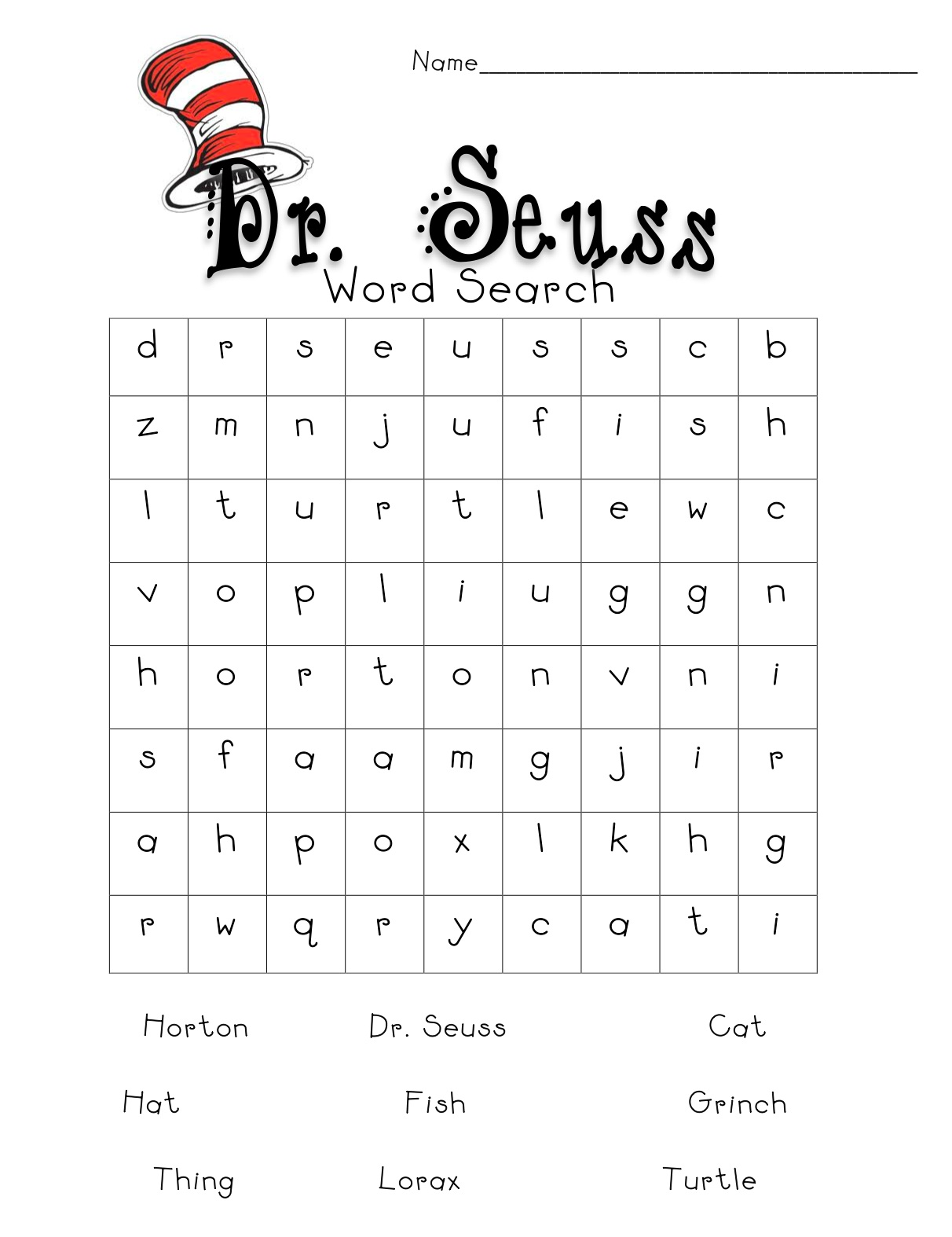 picture about Dr Seuss Word Search Printable identify Skees Household Blog site: A tiny further Dr. Seuss