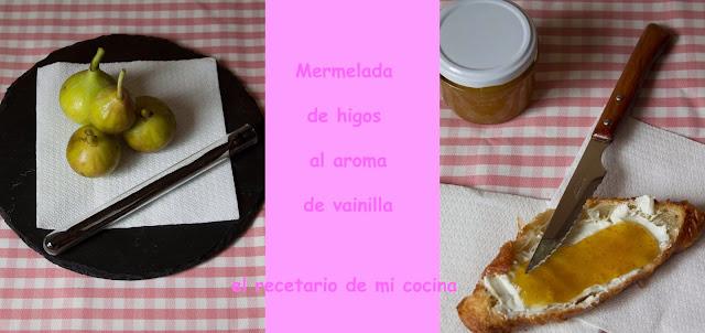 mermelada de higos al aroma de vainilla