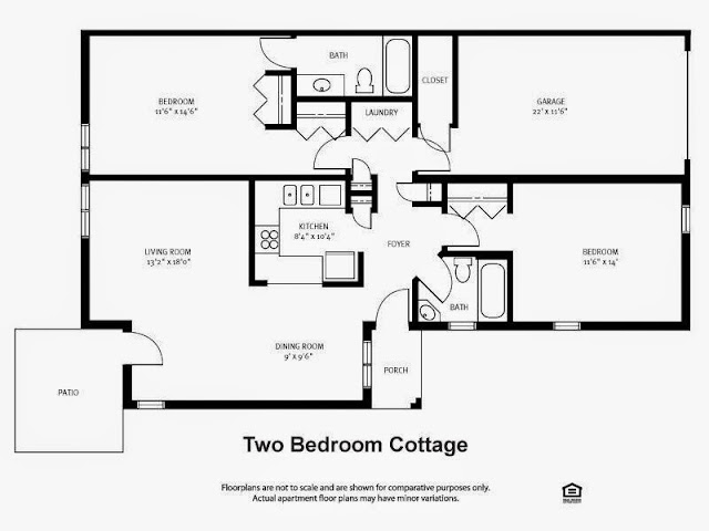 Small 2 bedroom cottage plans ayanahouse for Two bedroom bungalow plans