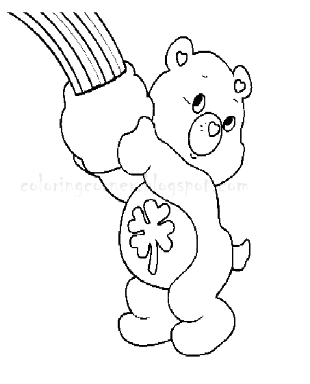 Preschool Hibernating Bear Coloring Page
