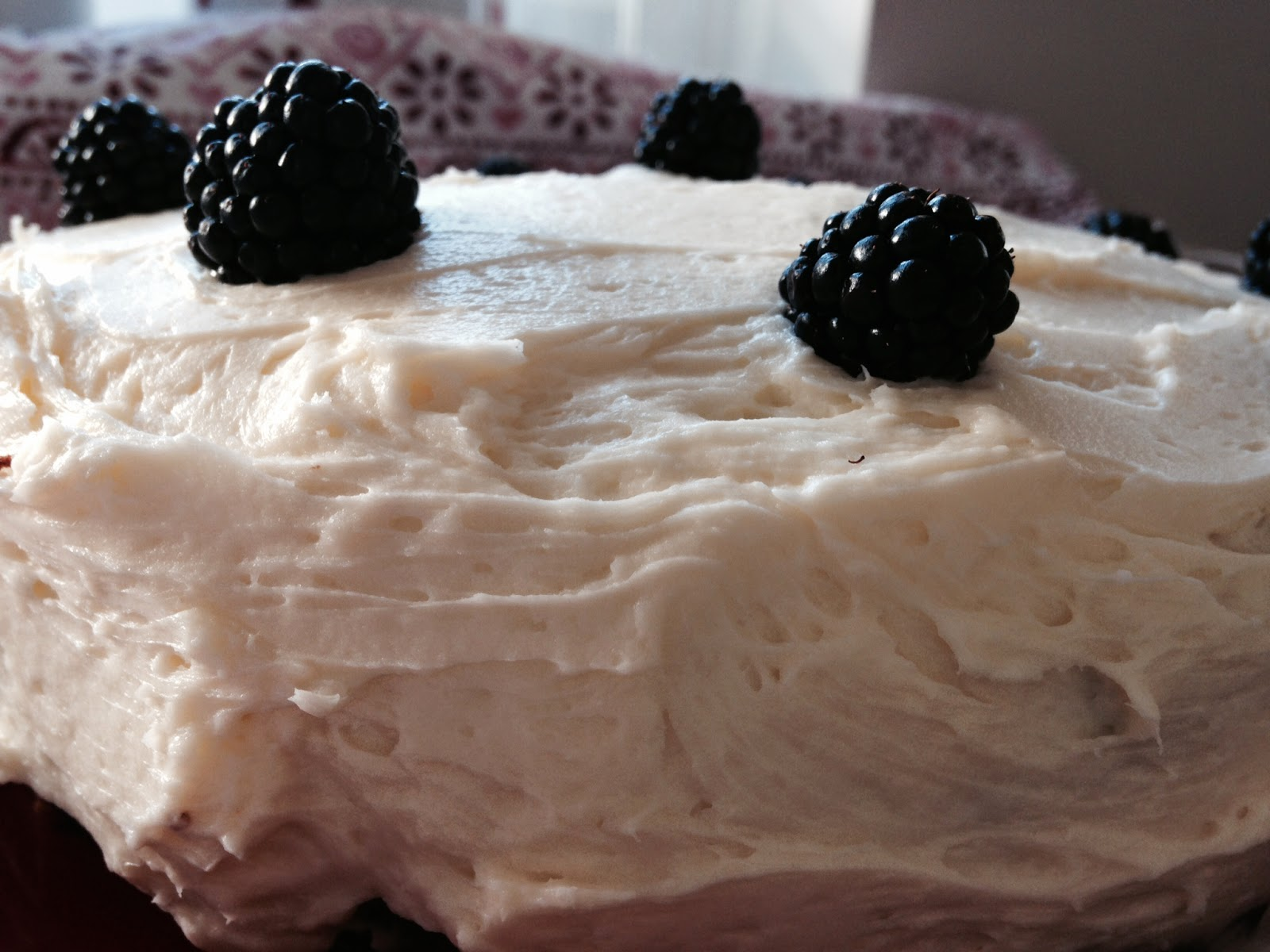 Cardamom Blackberry Chai Cake
