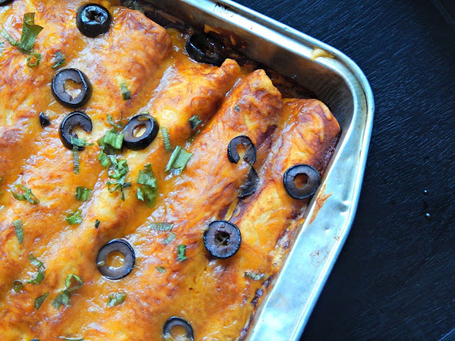Cheesy Beef Enchilada Recipe #naturallycheesy AD