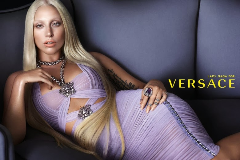 Lady Gaga on Versace