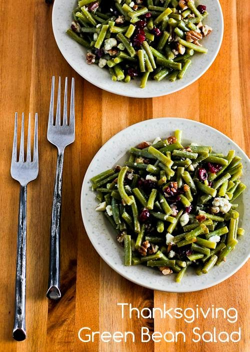 Thanksgiving Green Bean Salad Recipe with Blue Cheese, Dried Cranberries, and Pecans