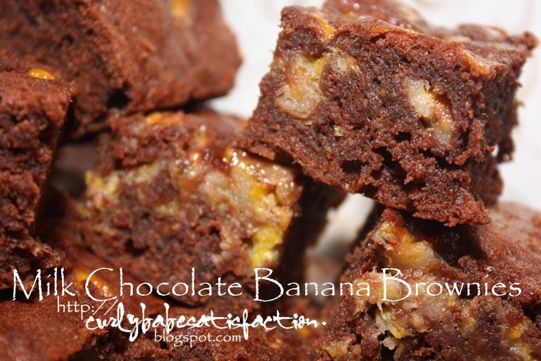 Curlybabe's Satisfaction: Milk Chocolate Banana Brownies