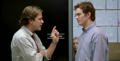 Peter Sarsgaard and Hayden Christensen play games in SHATTERED GLASS by Hunger Games scribe Billy Ray.