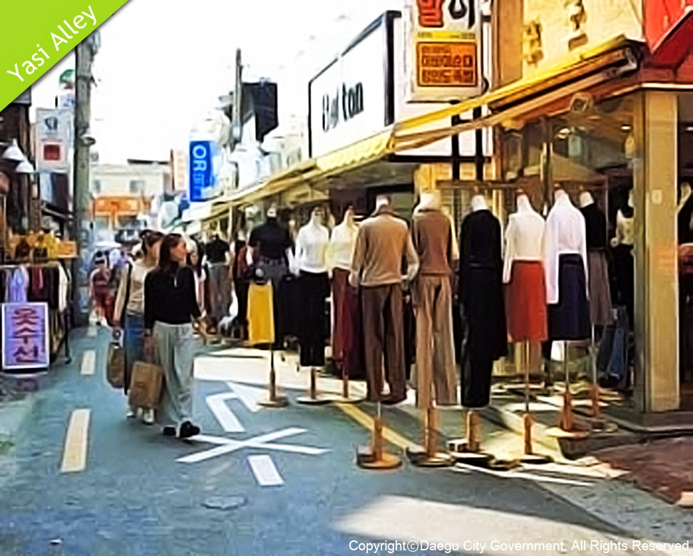 Shopping Areas in Daegu-Yasi(Foxi) Alley, Jung-gu
