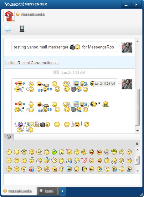 Yahoo Messenger Emoticons New on Yahoo Web Mail Chat