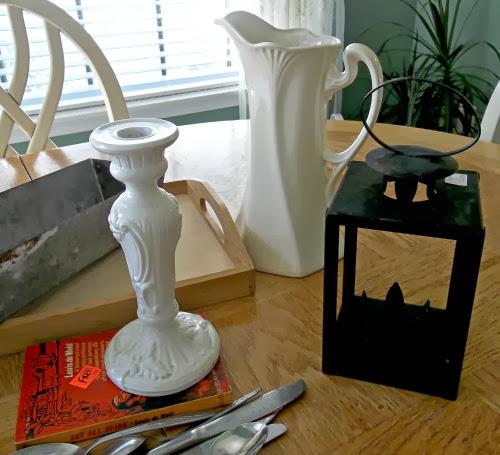 candlestick, pitcher, lantern
