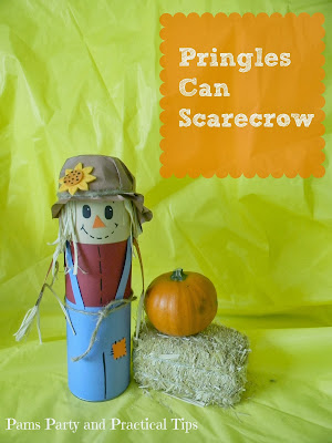 How to make a scarecrow using a Pringles can