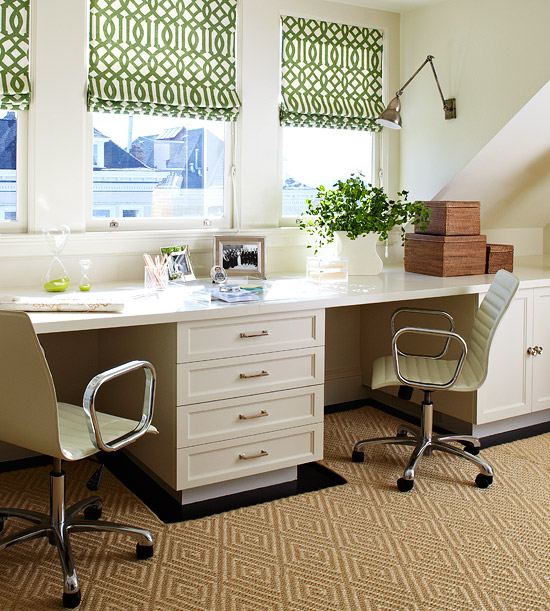 15 small space home office design ideas home designs plans. Black Bedroom Furniture Sets. Home Design Ideas