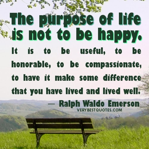 tips to live a happy life quotes purpose of life