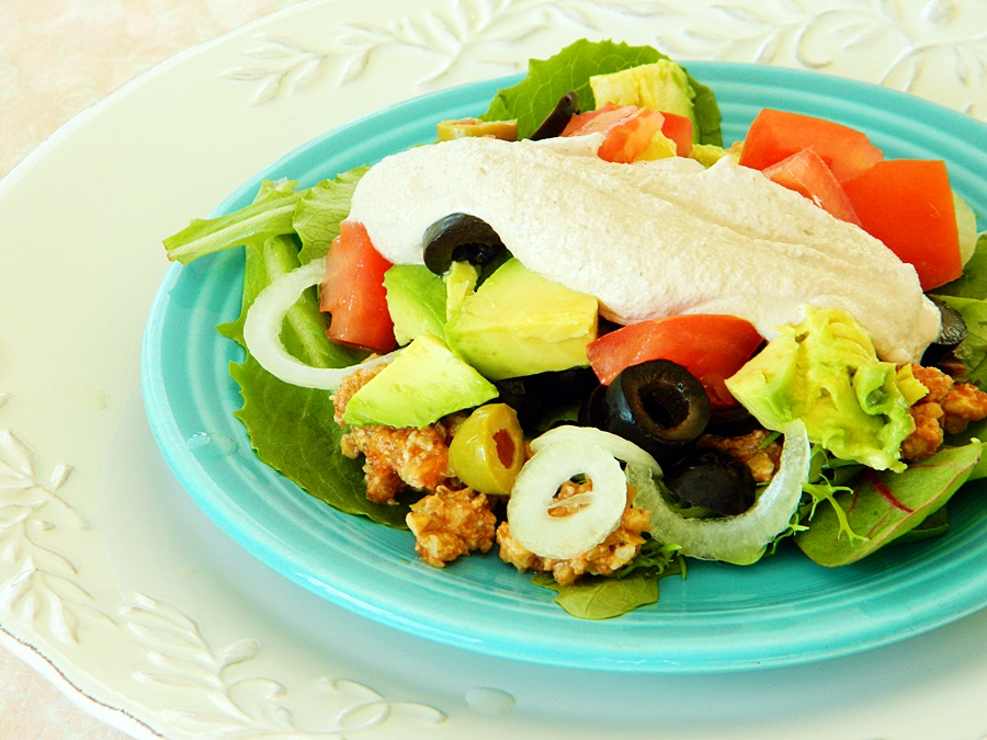 Raw on 10 a day or less taco salad raw vegan recipe taco salad raw vegan recipe forumfinder Choice Image