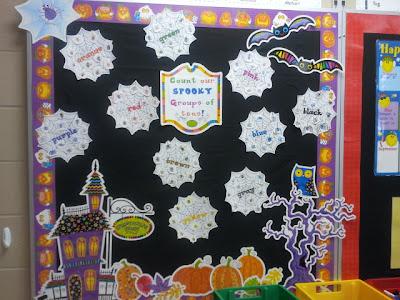 Inspired by Kindergarten: Spider/Halloween Bulletin Board Idea