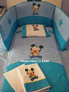 Edredón de cuna Baby Mickey