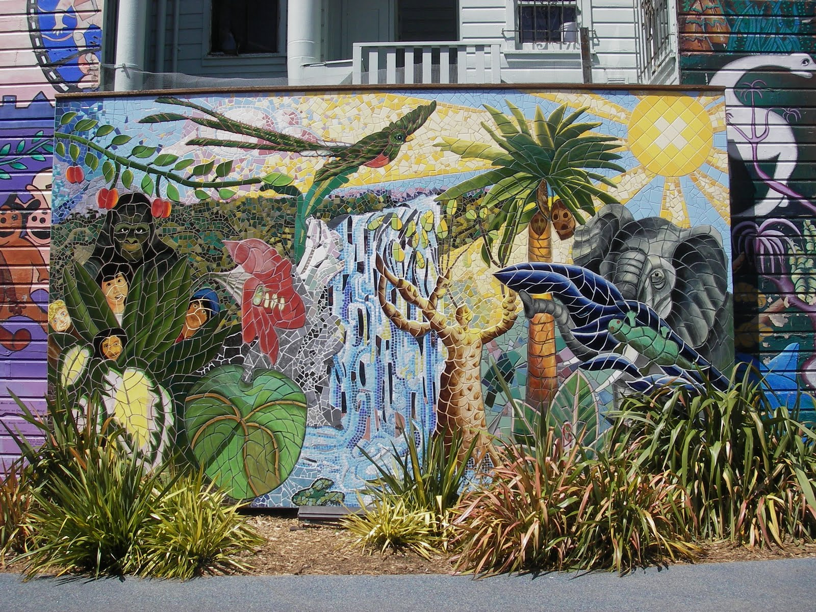 Julie travels amazing sf murals for Common threads mural