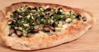 robiola truffle oil flatbread pizza