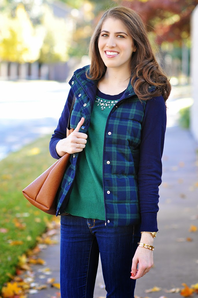 Old Navy Plaid Frost Free Vest