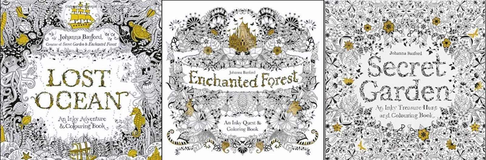 One Of My Favourite Illustrators Johanna Basford Already Has A Trilogy Incredible Books To Her Name Secret Garden Enchanted Forest And Lost Ocean