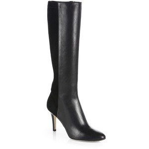 Jimmy Choo - Adele Leather - Stretch-Suede Boots