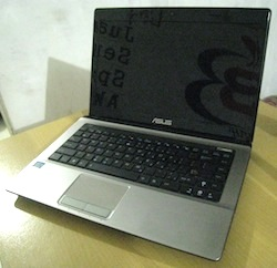jual laptop bekas asus a43e