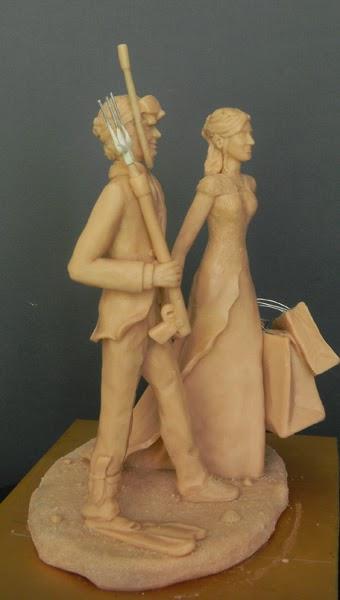 statuette personalizzate sposi torta nuziale cake tops orme magiche