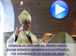 VIDEO DE LA HOMILÍA DEL SR OBISPO, DEL DÍA 25 DE ENERO DE 2015