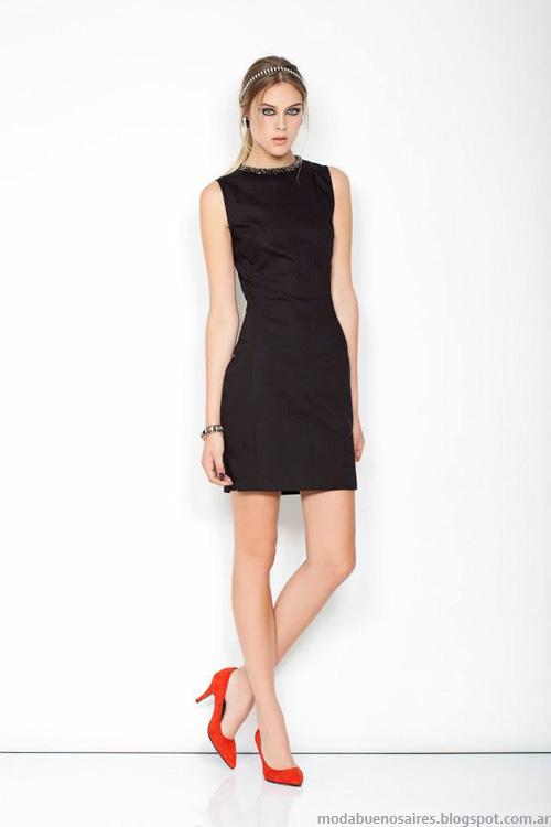 Janet Wise invierno 2014 vestidos cortos.