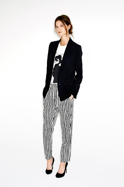 Black&white pants
