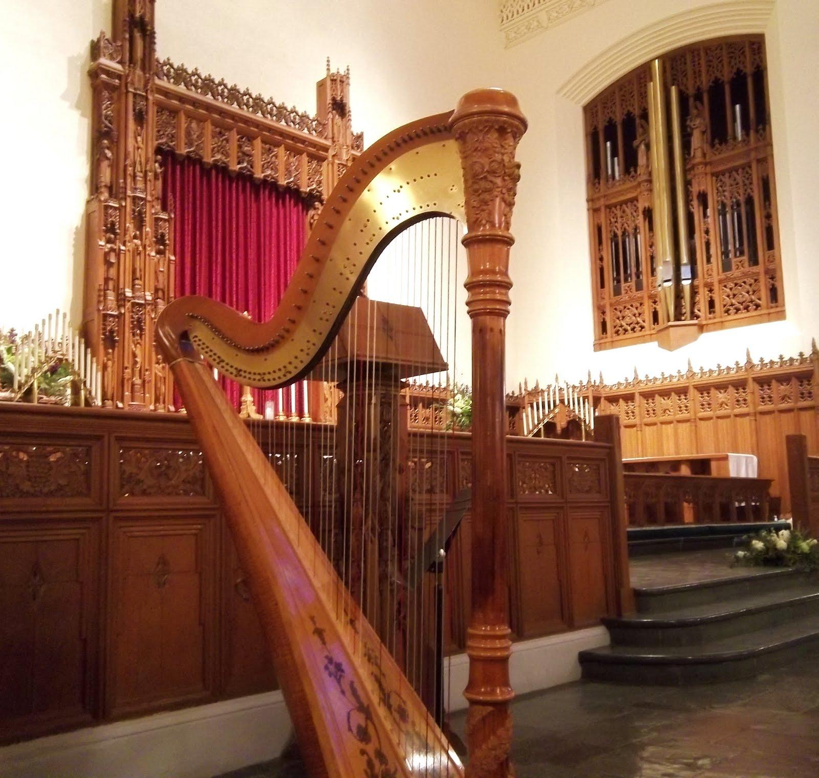 Chicago Harpist Wedding Ceremony At Grace Lutheran
