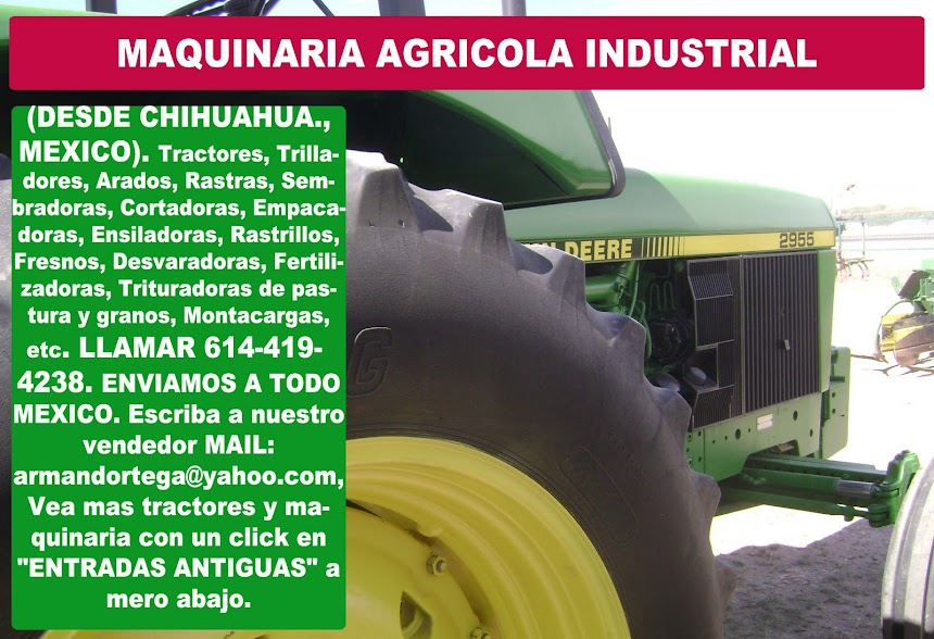 MAQUINARIA AGRICOLA INDUSTRIAL