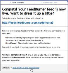FeedBurner Congrats
