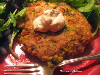 Baked Tilapia Cakes with Greek Dill Sauce at Miz Helen's Country Cottage