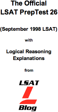 LSAT Blog PrepTest 26 September 1998 LSAT PDF
