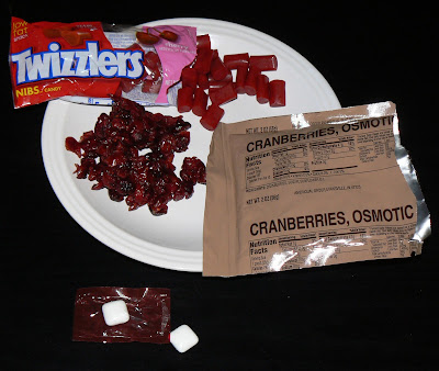 MRE Review: Menu 20, osmotic cranberries