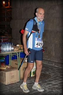 Trotón Al tras crizar la meta en Segovia