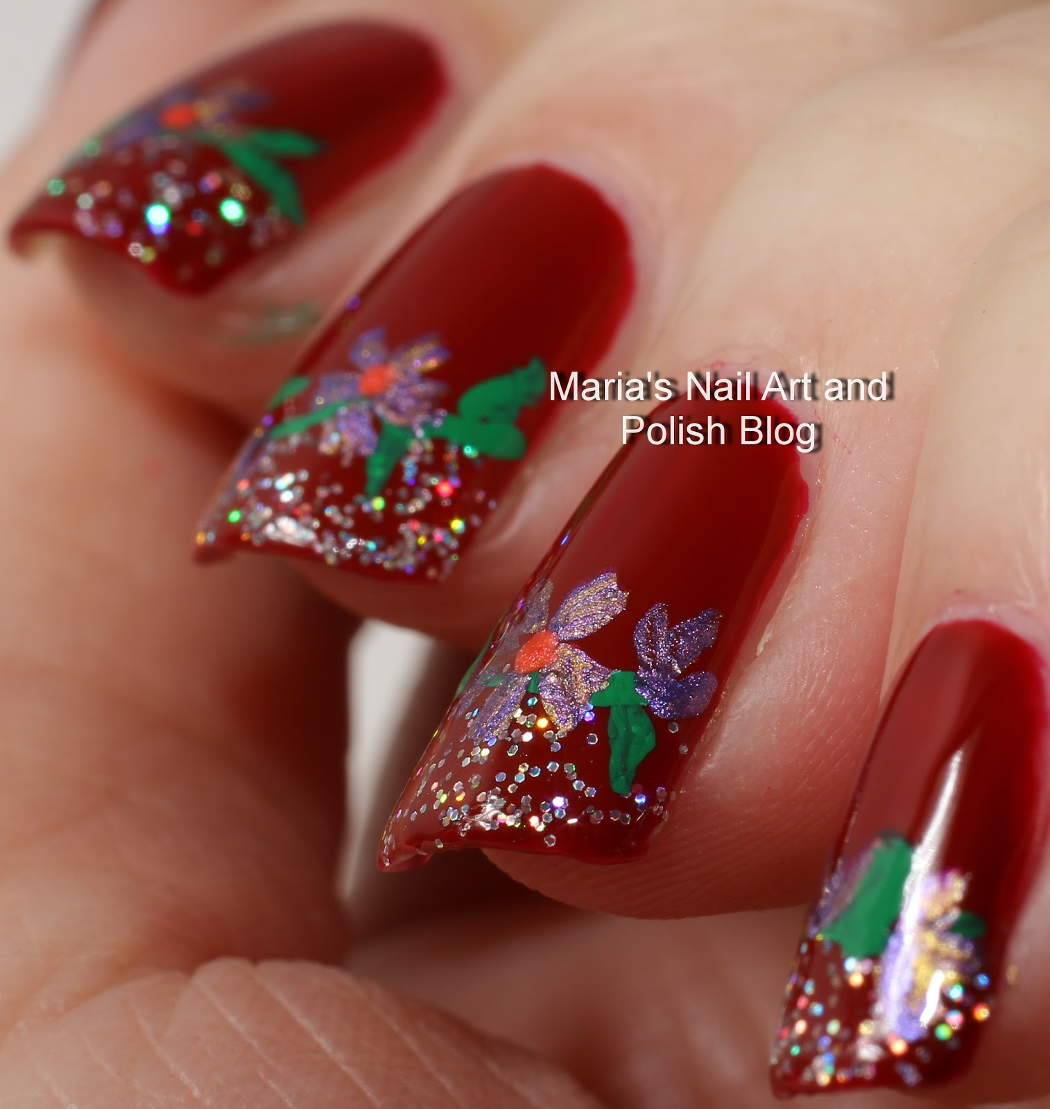 Marias Nail Art And Polish Blog Subtle Floral Nail Art On: Marias Nail Art And Polish Blog: Irresistible Flowers