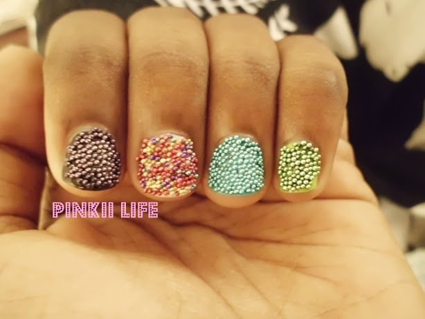 Pinkii Life Simple And Gorgeous Caviar Bead Nail Art