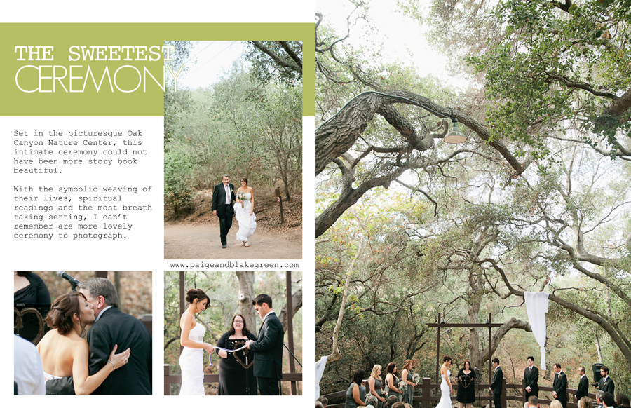Oak Canyon Nature Center Wedding Ceremony, Weddings by Paige and Blake Green Photography