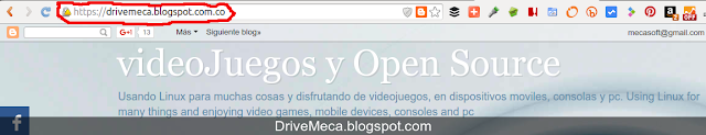 DriveMeca HTTPS en Blogger