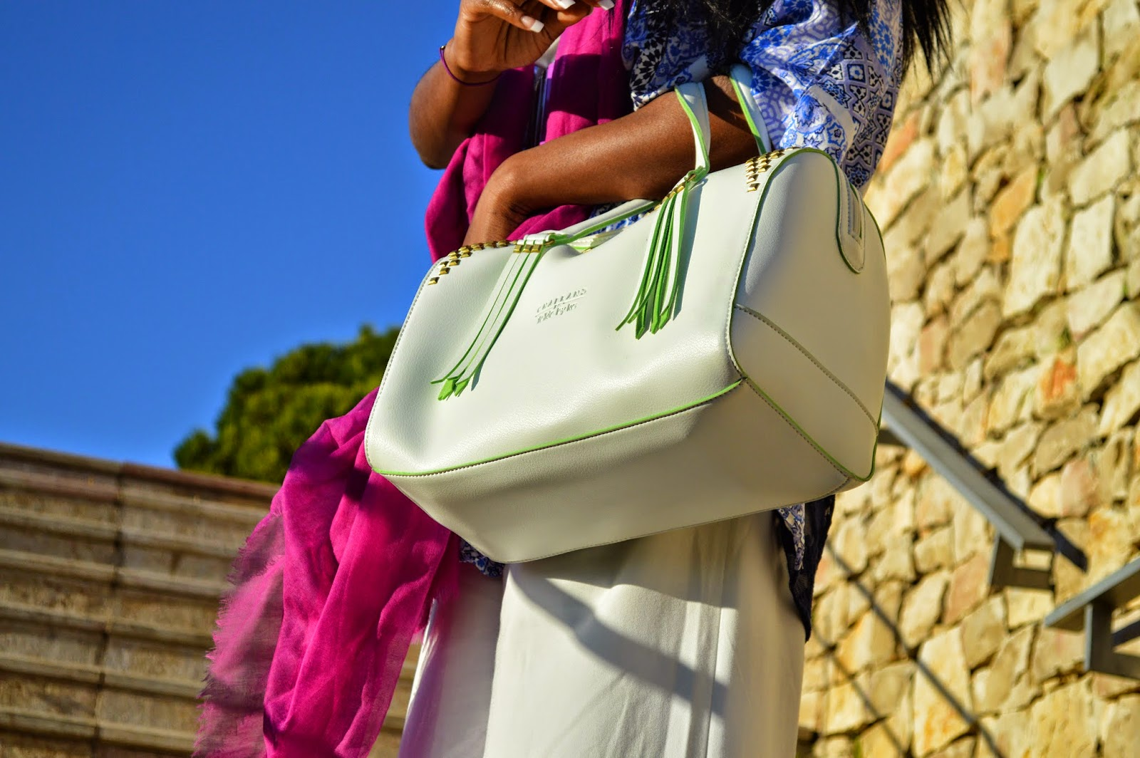 sac chabrand arizona, foulard, combinaison, kimono, ceinture