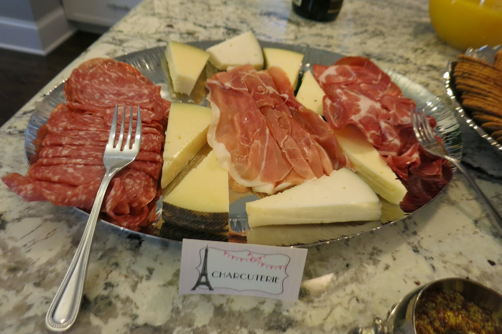 Paris-Themed Birthday Party: Charcuterie Platter