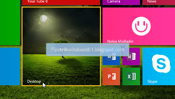 Cara Menampilkan Background Desktop di Start Screen
