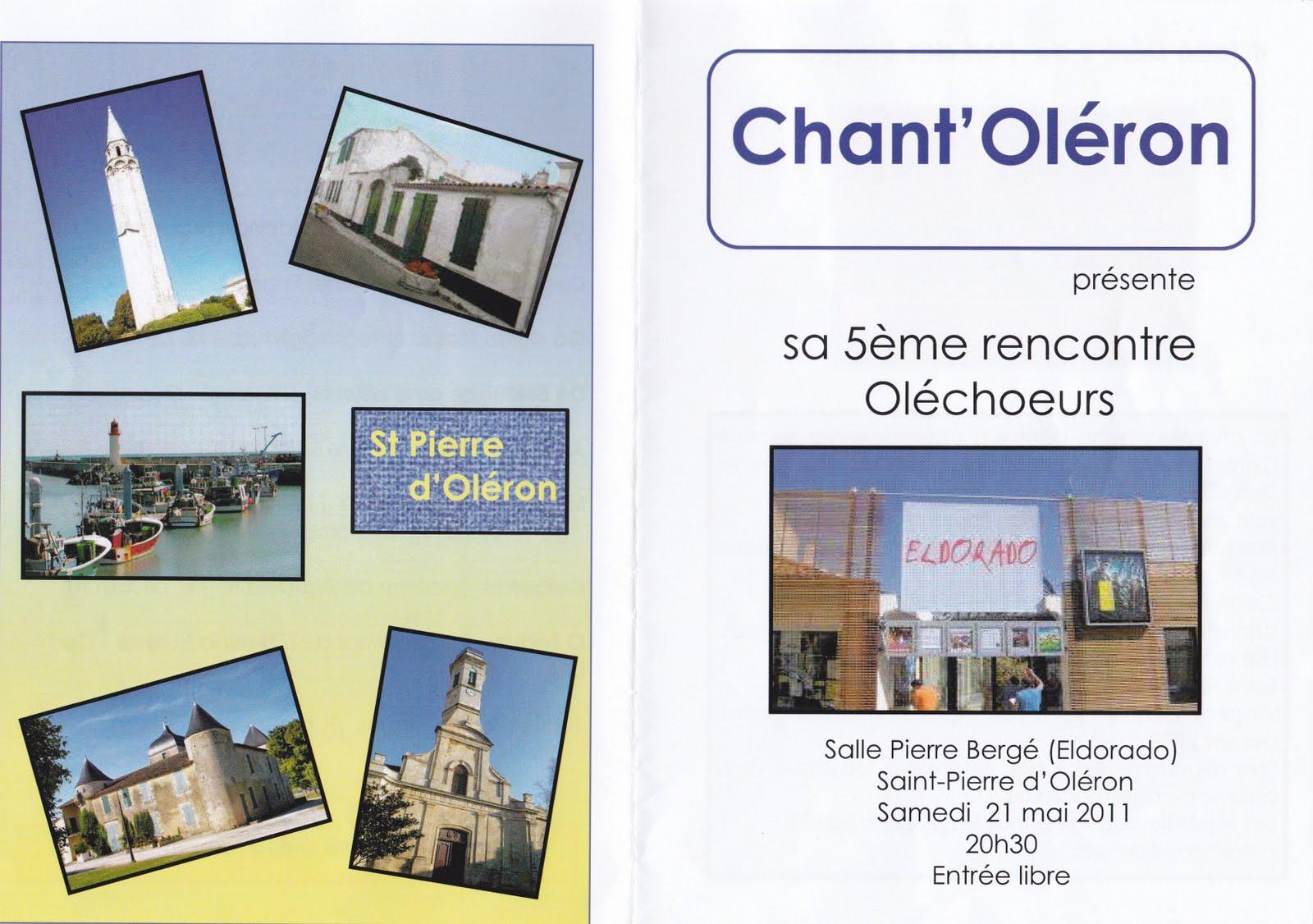 Passion du moment cinqui me rencontre olechoeurs de saint - Office du tourisme st pierre d oleron ...