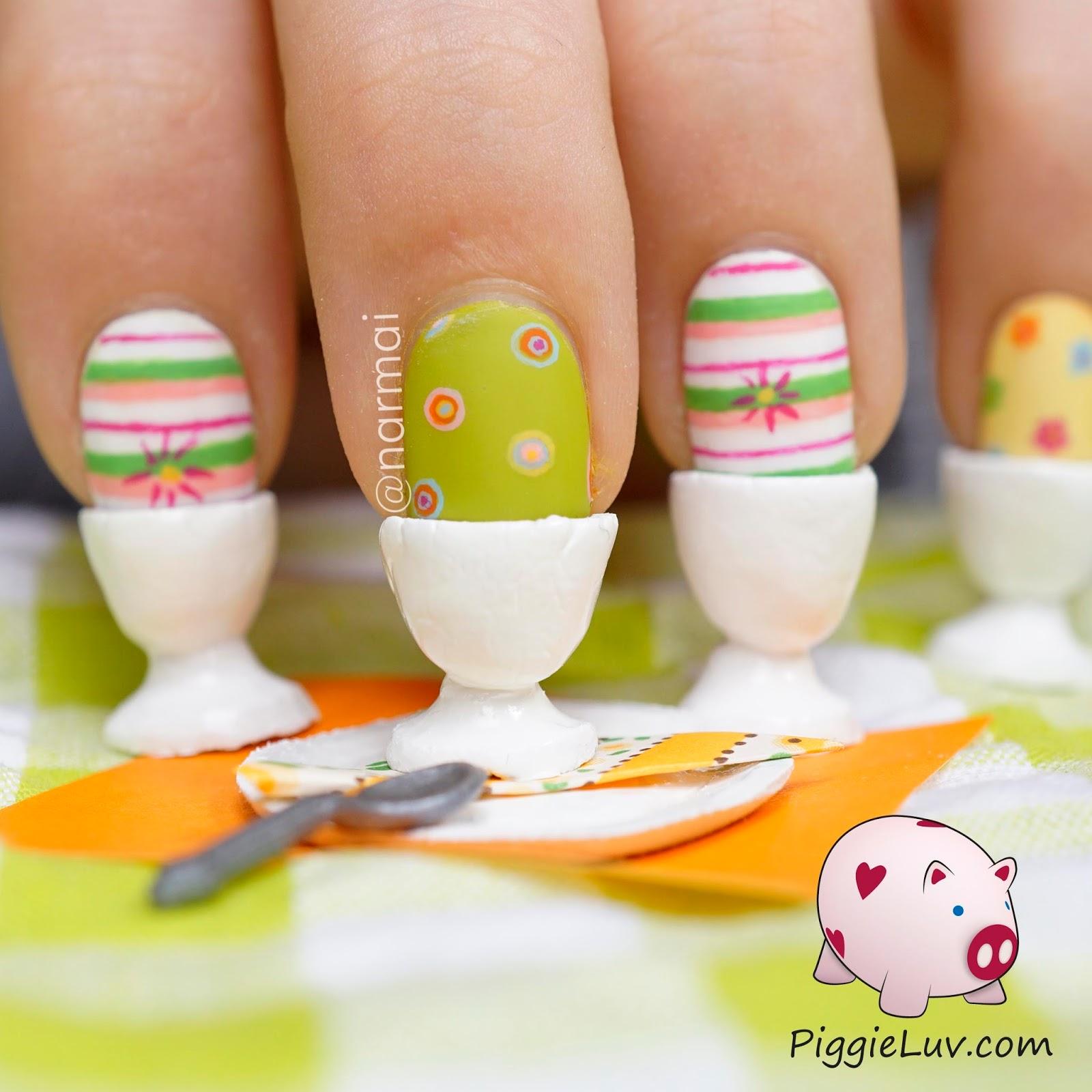 Piggieluv Easter Eggs For Breakfast Crazy 3d Nail Art