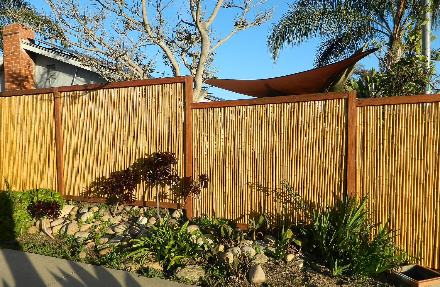 Bamboo grove photo bamboo fence bamboo fence6 bamboo fence get the backyard x scapes baanklon Image collections