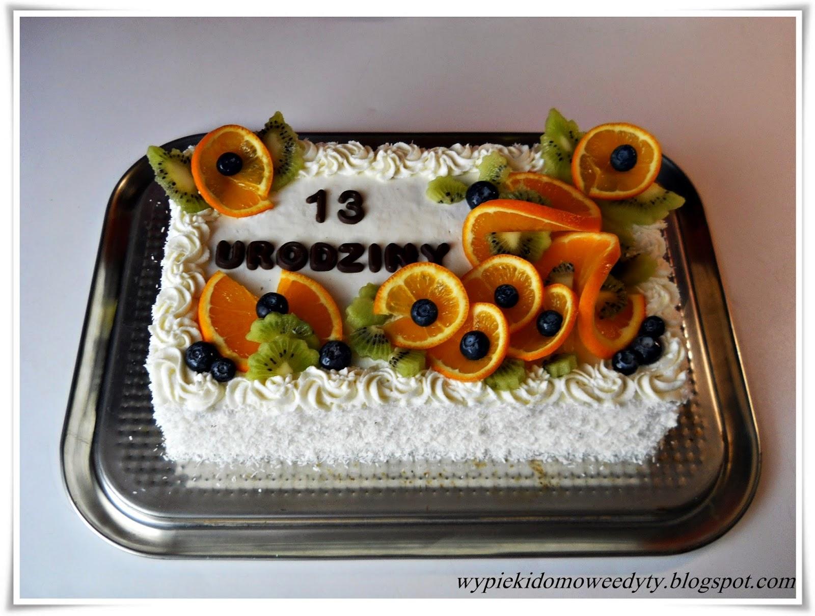 Moje Domowe Wypieki Tort Z Owocami