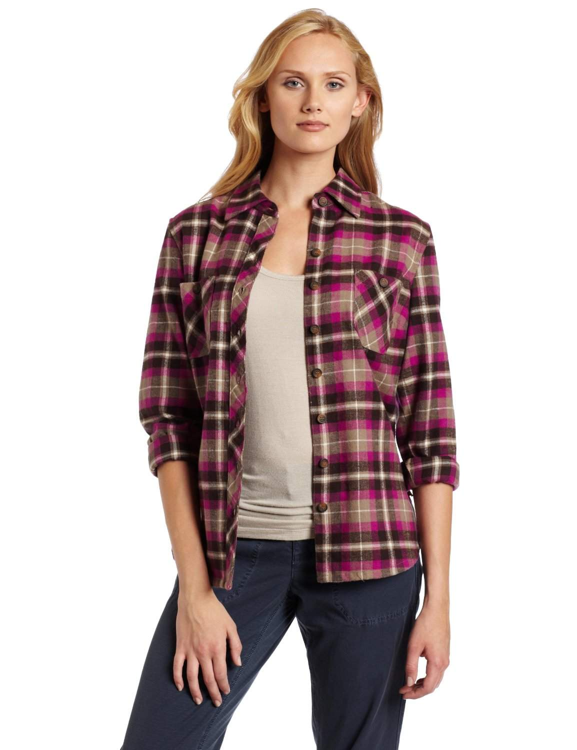 Women Plaid Shirt, Ladies Casual Roll up Sleeve Button Down Boyfriend Shirt. from $ 18 99 Prime. out of 5 stars ZANZEA. Women Blouses Tops Buffalo Check Plaid Long Sleeve Collar Neck Casual Button Down Shirts. from $ 19 99 Prime. out of 5 stars Sysea. Women's Plaid Shirt Off The Shoulder Slouchy Pullover.