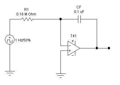 hobby in electronics  integrator circuit using op amp 741