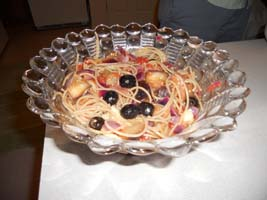 Weight Loss Recipes : Linguine with Olives, Eggplant and Artichokes